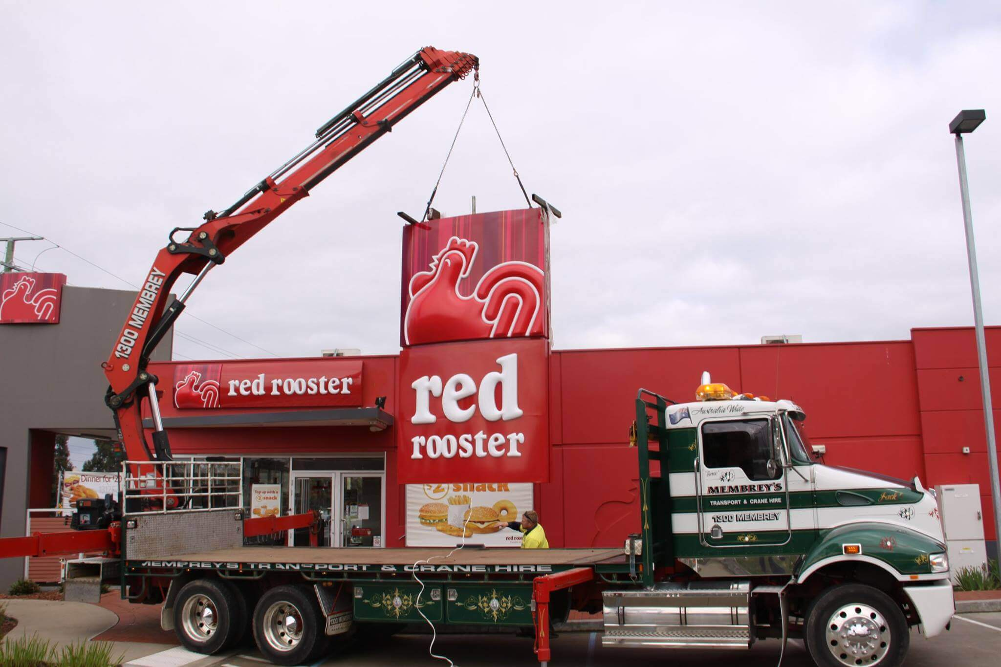 Hiab Crane Truck sign installation